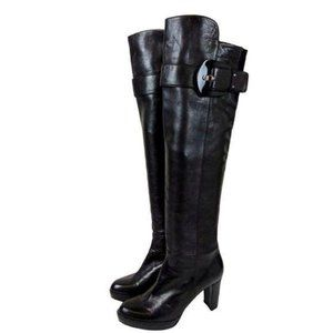 Stuart Weitzman Over the Knee Leather Boots-N1298